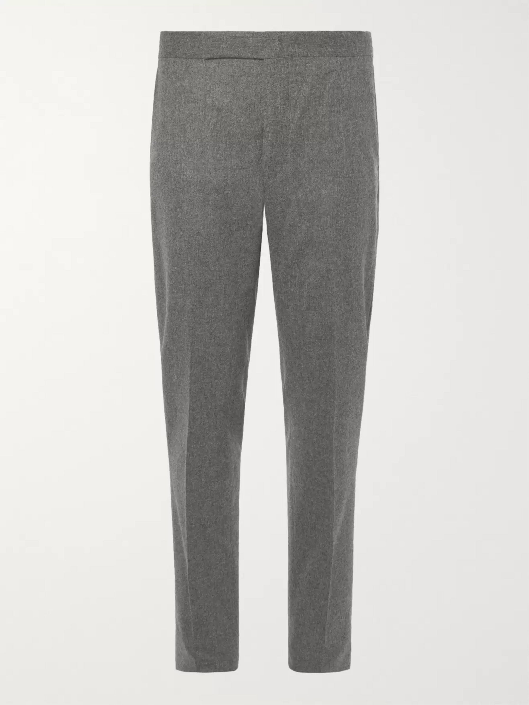 designer fashion best website new lower prices Gray Slim-Fit Tapered Wool-Flannel Trousers | Polo Ralph Lauren ...