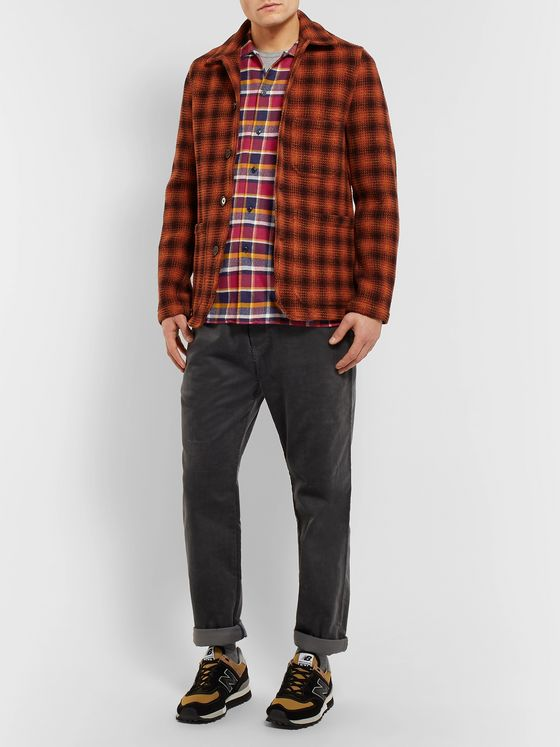 YMC Checked Cotton-Flannel Shirt