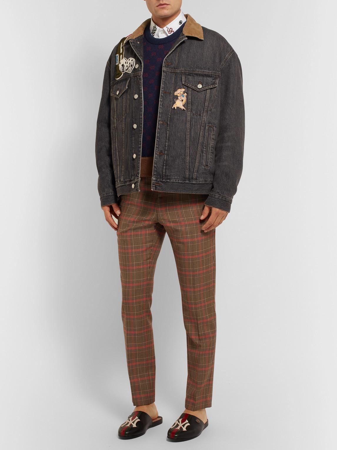 Gucci Sweaters LOGO-JACQUARD WOOL AND ALPACA-BLEND SWEATER VEST