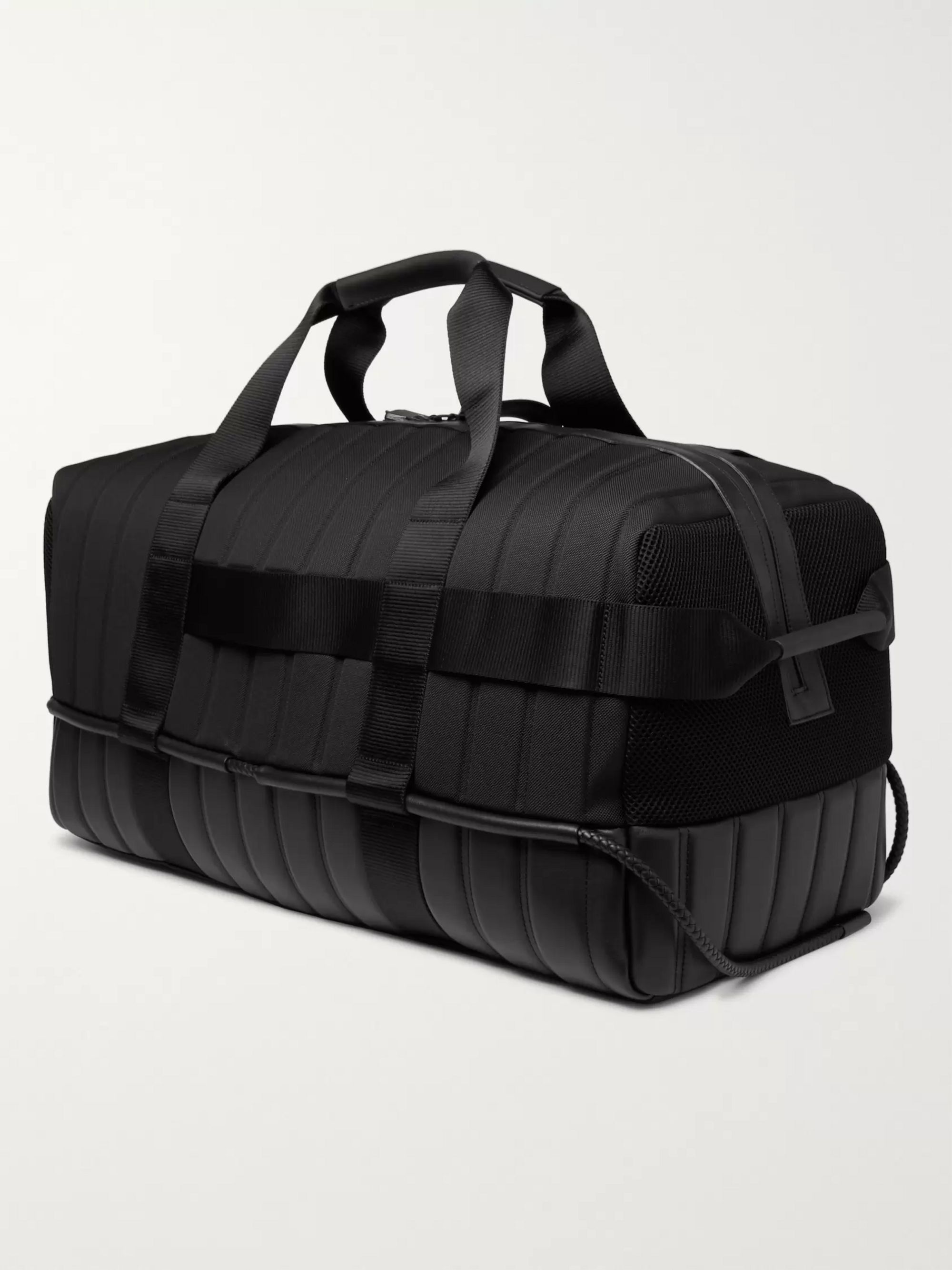 Moncler Genius 5 Moncler Craig Green Quilted Canvas, Leather and Mesh Holdall