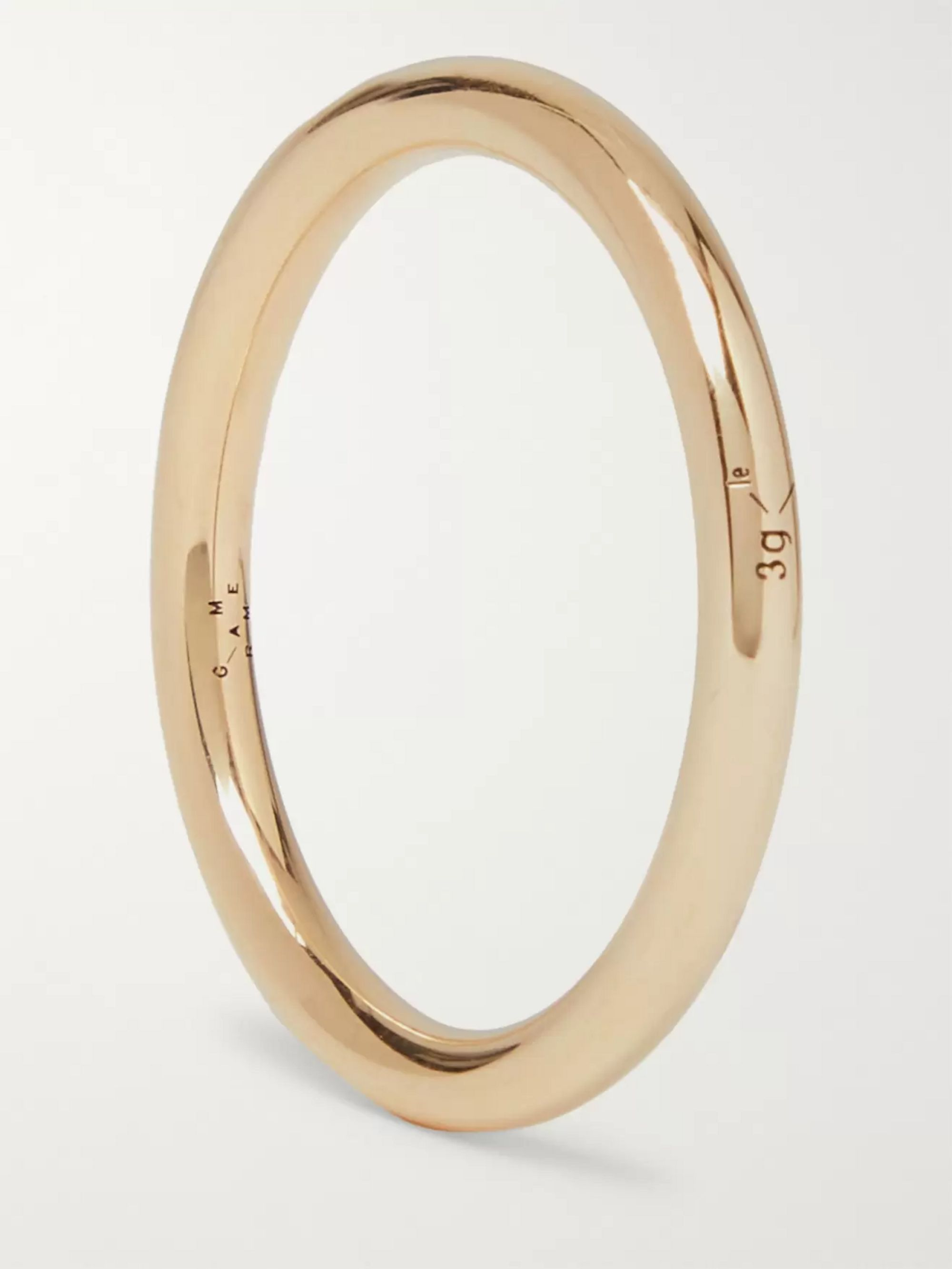 Le Gramme Le 3 Polished 18-Karat Gold Ring