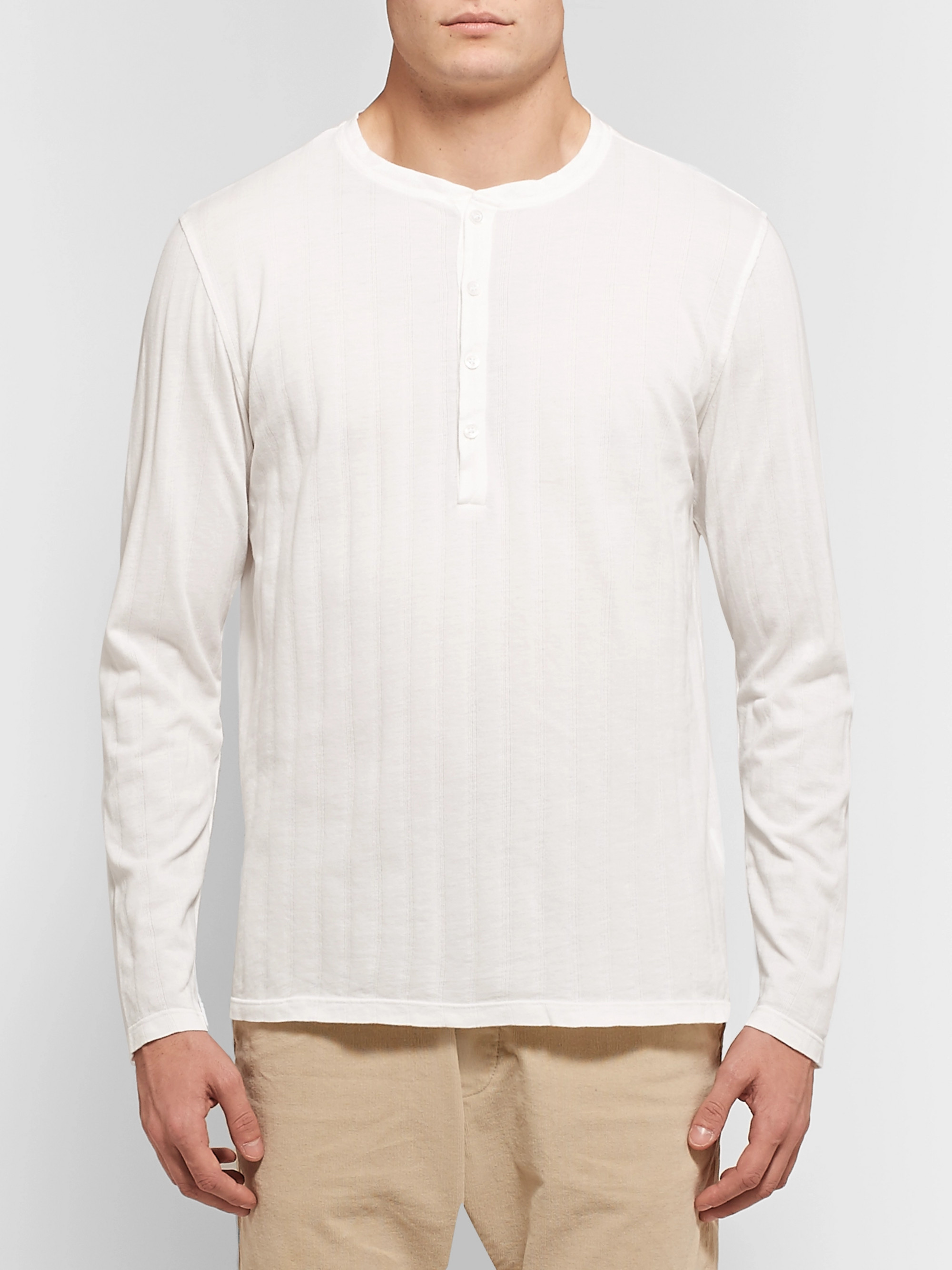 Barena Tatara Striped Cotton-Piqué Henley T-Shirt