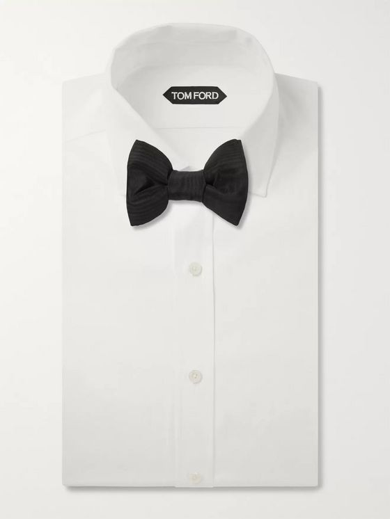 TOM FORD Pre-Tied Silk-Moire Bow Tie