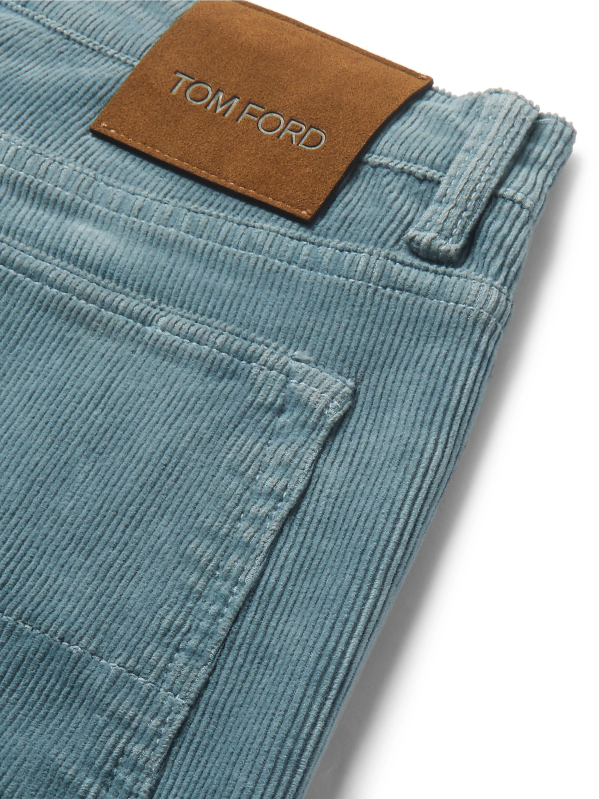 TOM FORD Slim-Fit Stretch-Cotton Corduroy Trousers