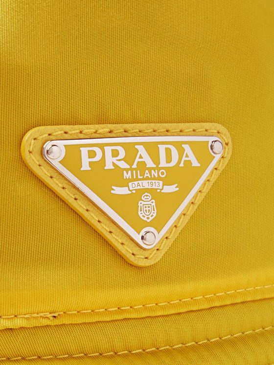 Prada Logo-Appliquéd Nylon Bucket Hat
