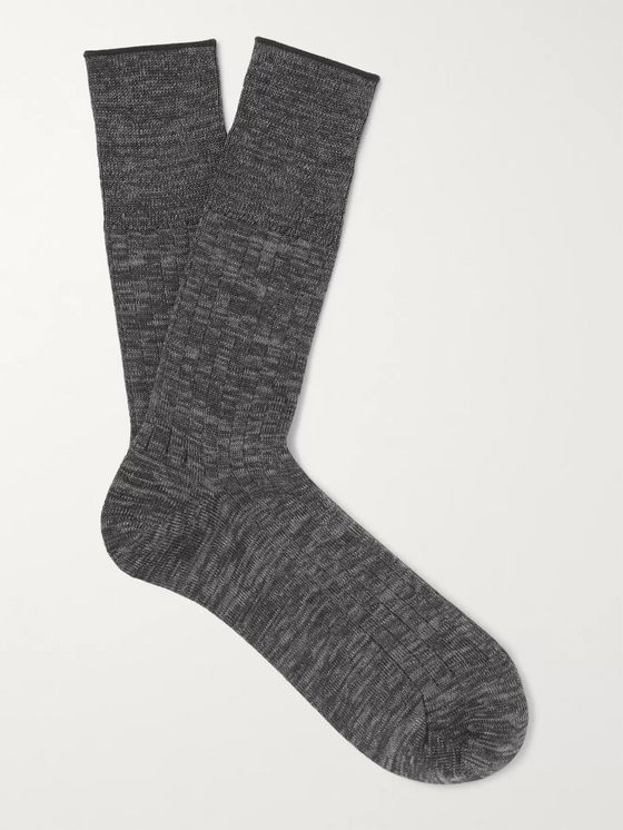 MR P. Mélange Cotton-Blend Socks