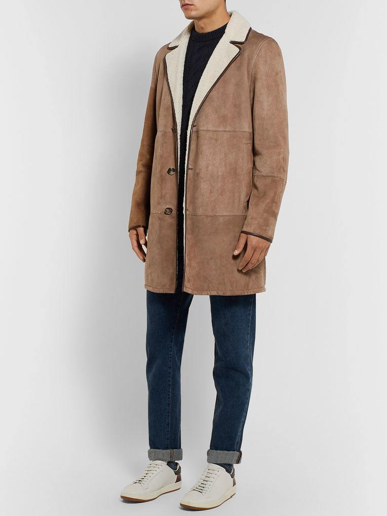 Loro Piana Wollaston Shearling Coat