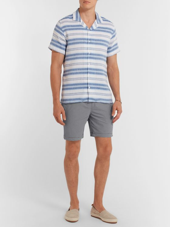 Onia Mid-Length Gingham Swim Shorts