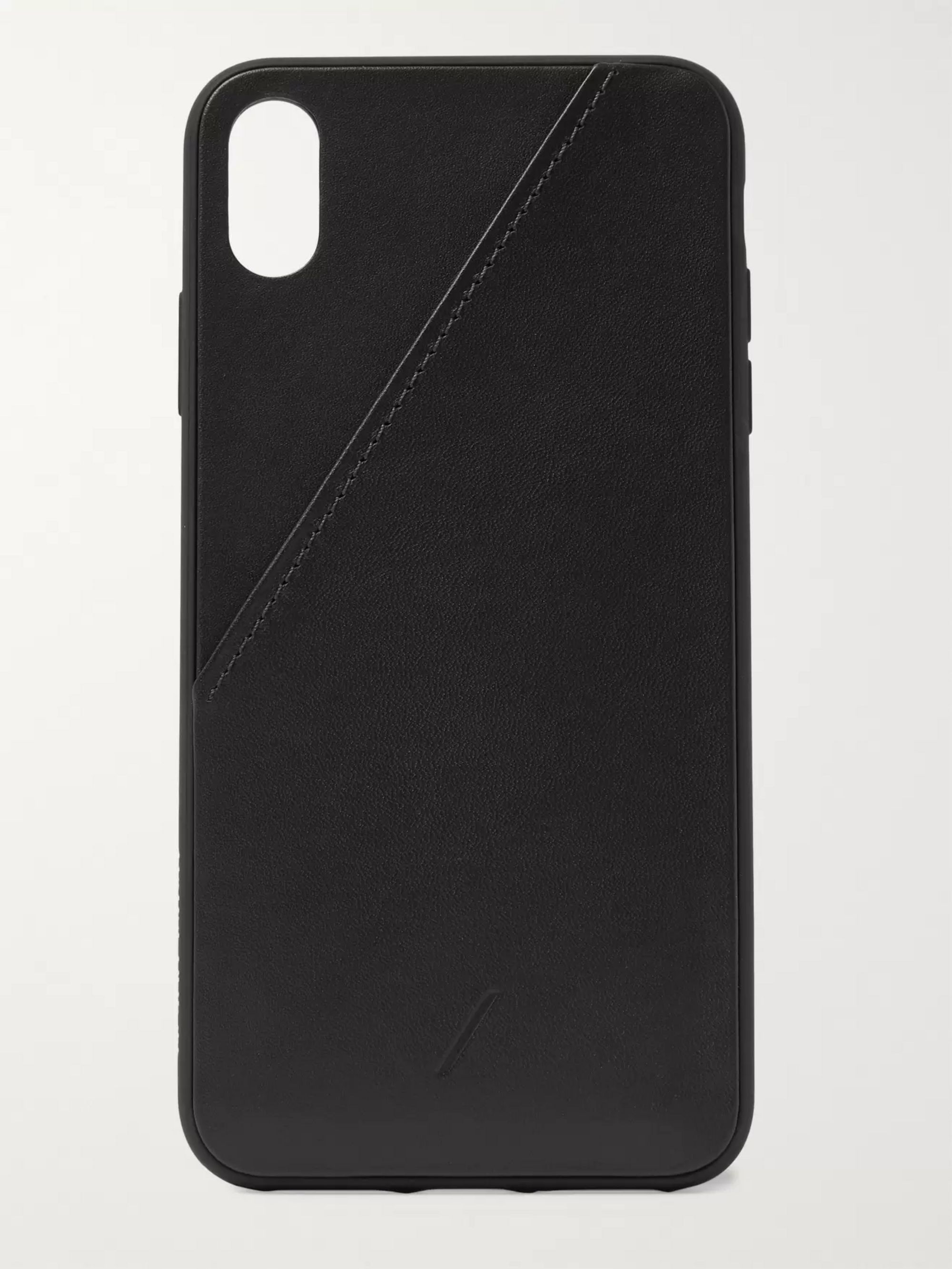 low priced dd168 5a470 Clic Card Leather iPhone XS Max Case