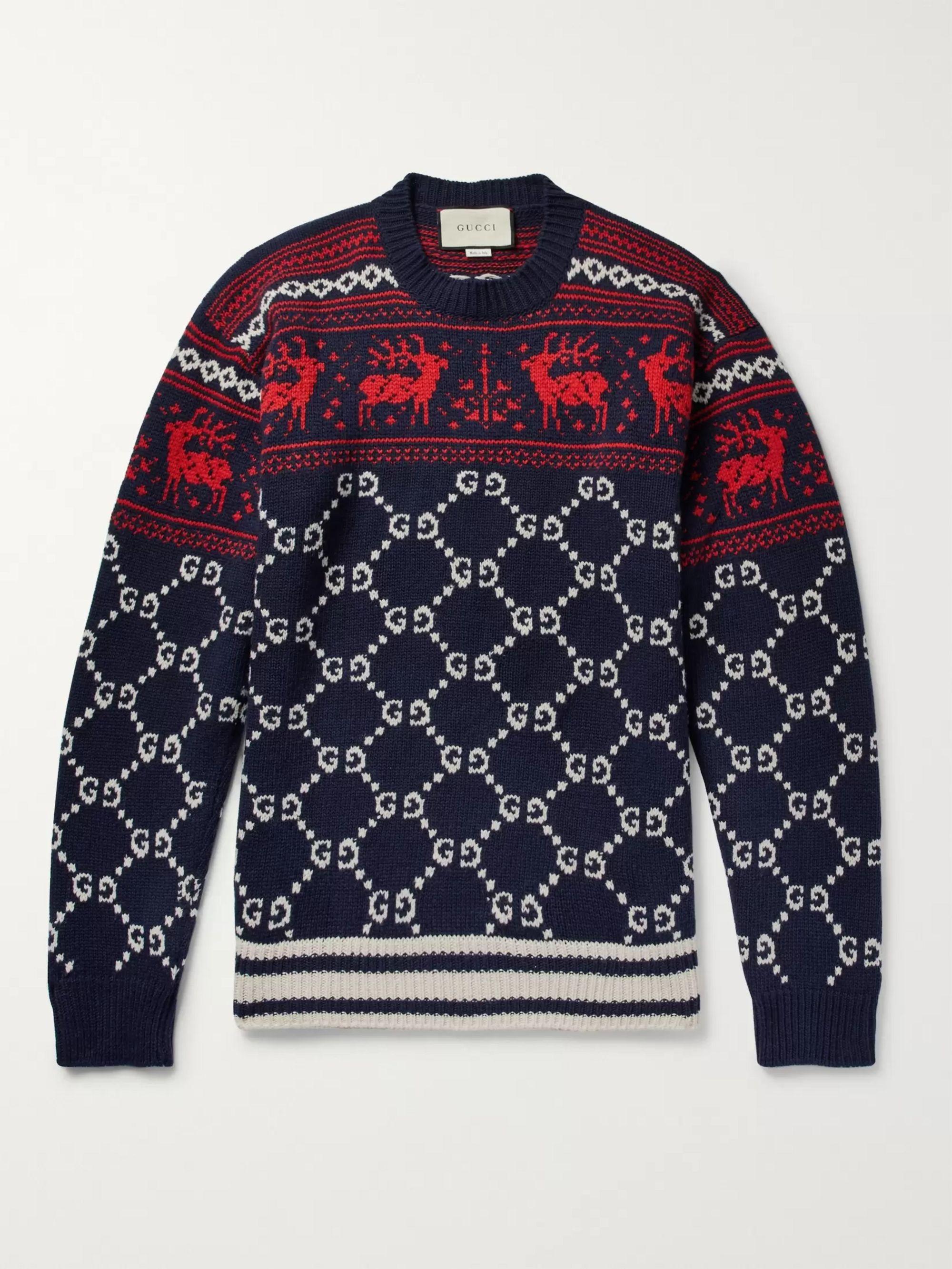 Fair Isle Jacquard-Knit Wool Sweater