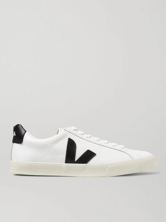 Veja Esplar Rubber-Trimmed Leather Sneakers