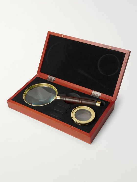 Celestron Ambassador Brass and Beech Wood Magnifier Set