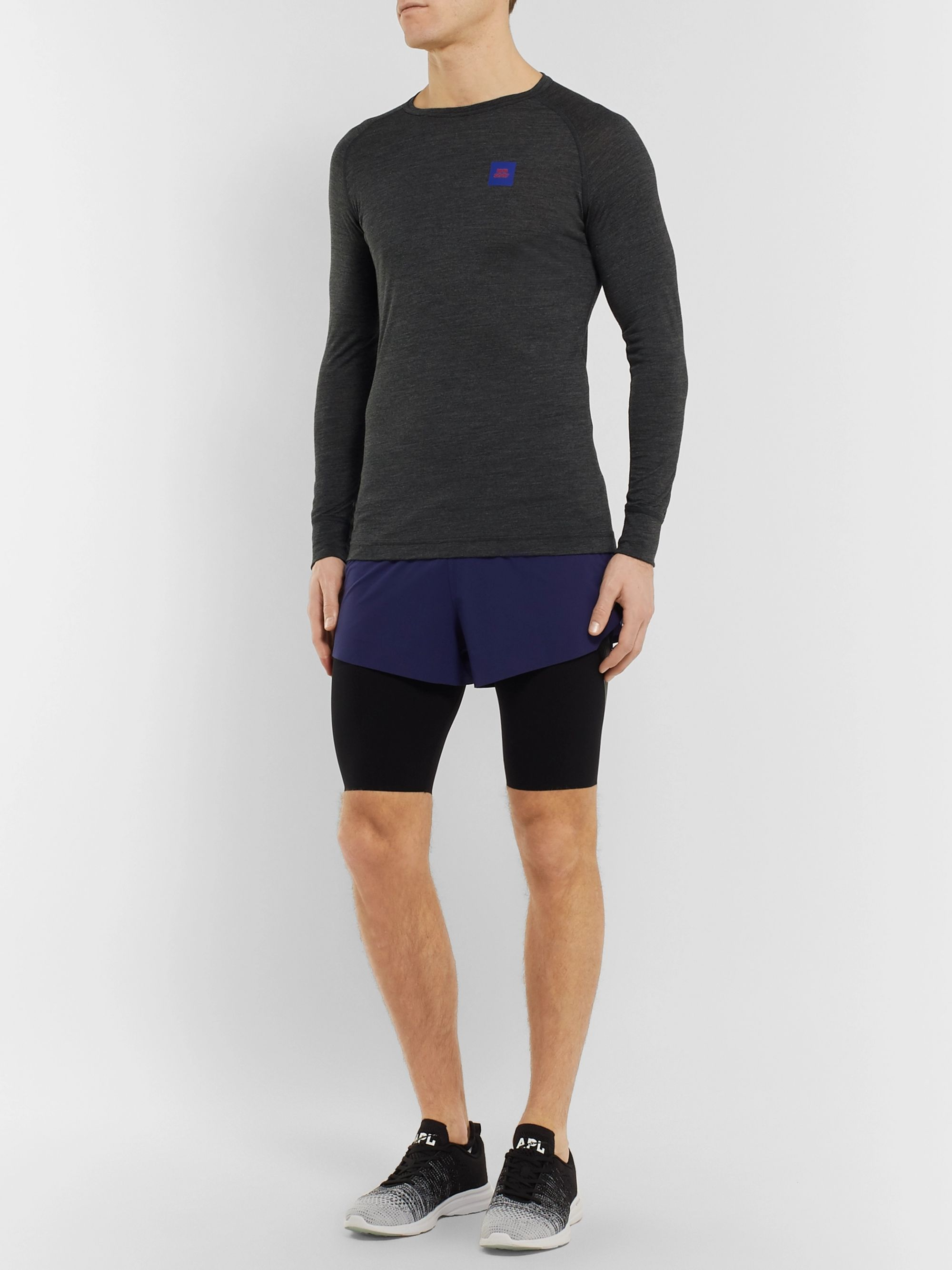 Soar Running Merino Wool and Silk-Blend Base-Layer T-Shirt