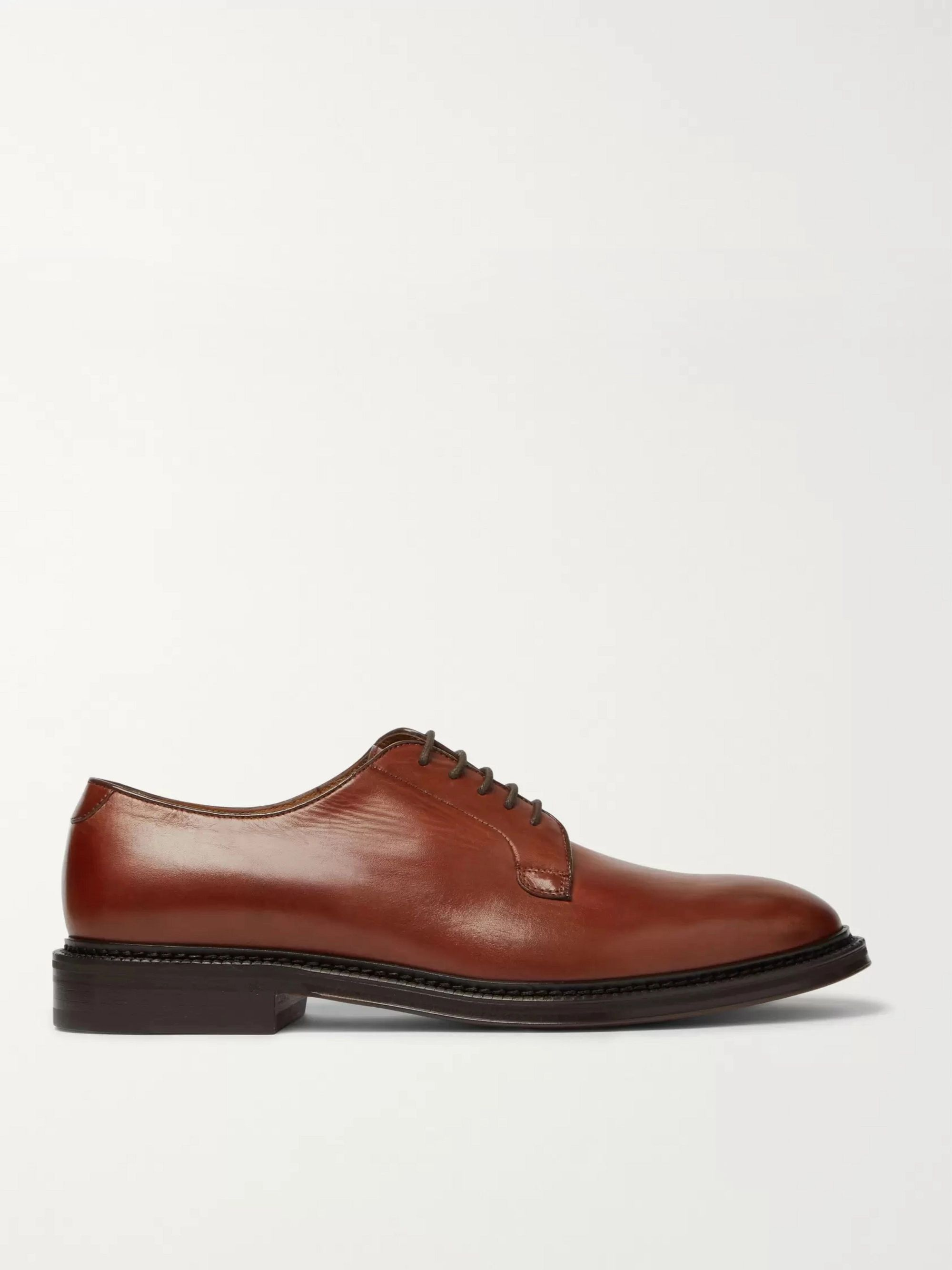 Mr P. Lucien Polished-Leather Derby Shoes