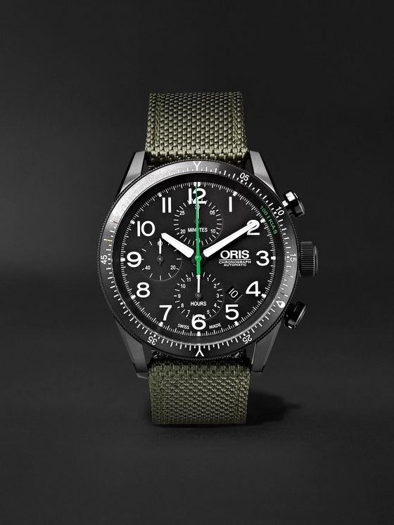 Oris Paradropper Limited Edition Automatic Chronograph 44mm Titanium and Canvas Watch, Ref. No. 01 774 7661 7734