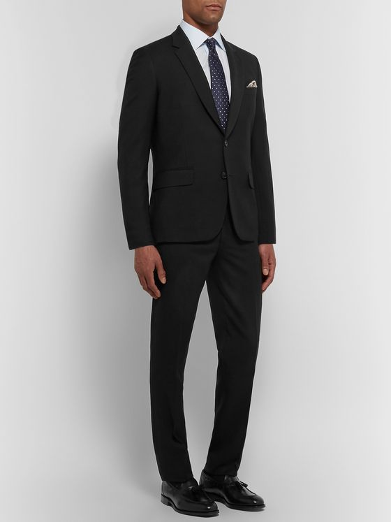PAUL SMITH Black A Suit To Travel In Soho Slim-Fit Wool Suit
