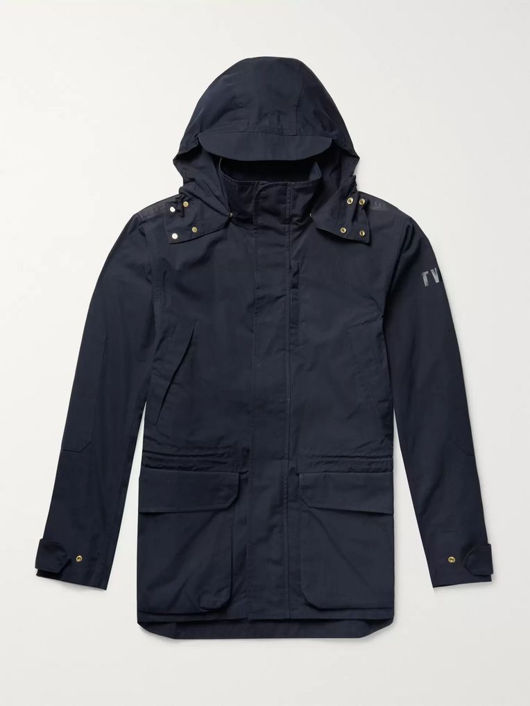 The Workers Club Cotton-Canvas Hooded Jacket