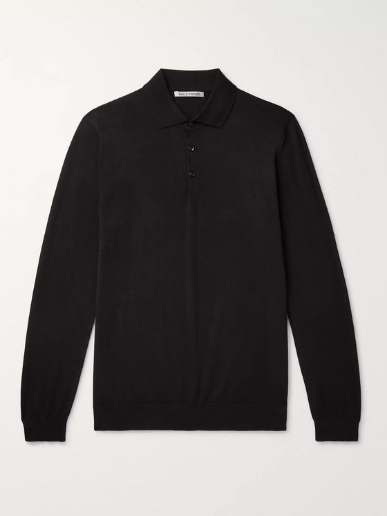 SALLE PRIVÉE Slim-Fit Cashmere Polo Shirt