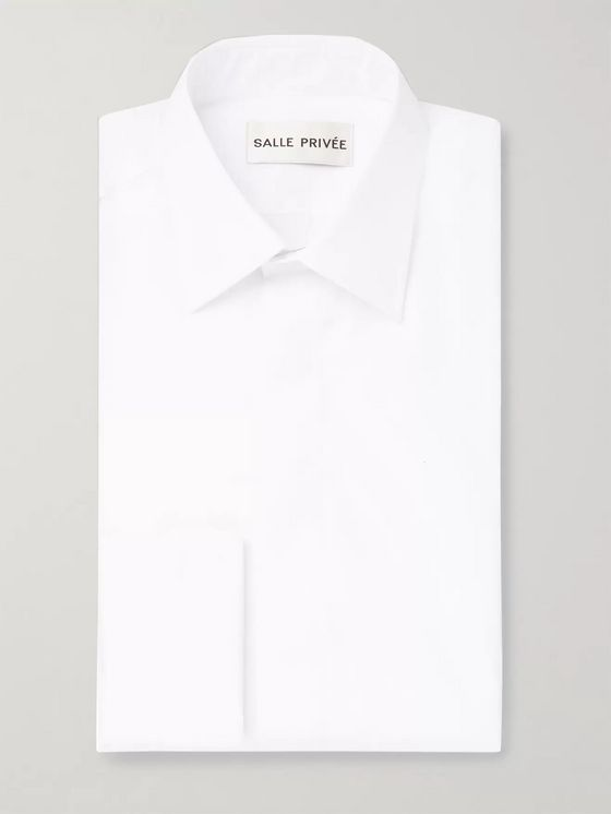 SALLE PRIVÉE White Cedric Double-Cuff Sea Island Cotton Shirt