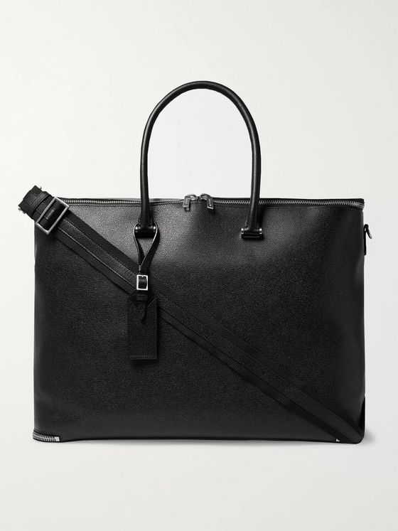 Valextra Pebble-Grain Leather Holdall