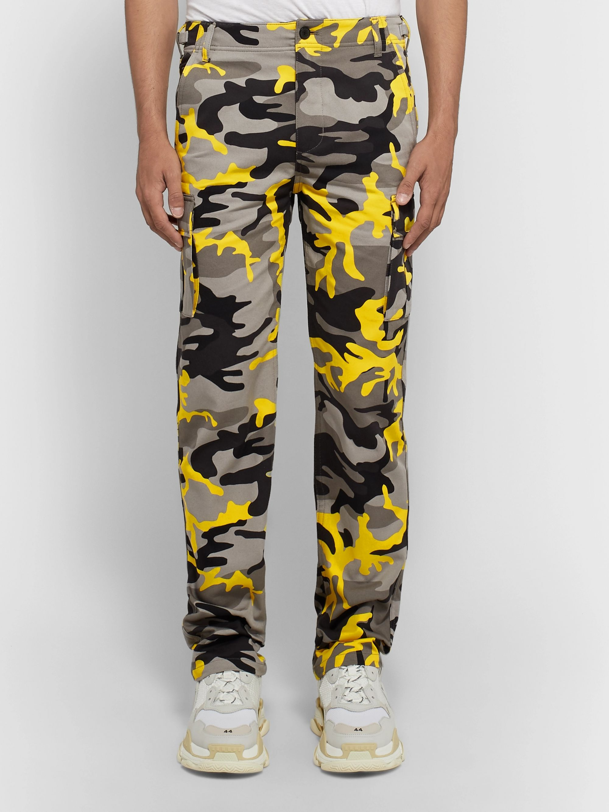 Balenciaga Slim-Fit Camouflage-Print Cotton-Twill Cargo Trousers