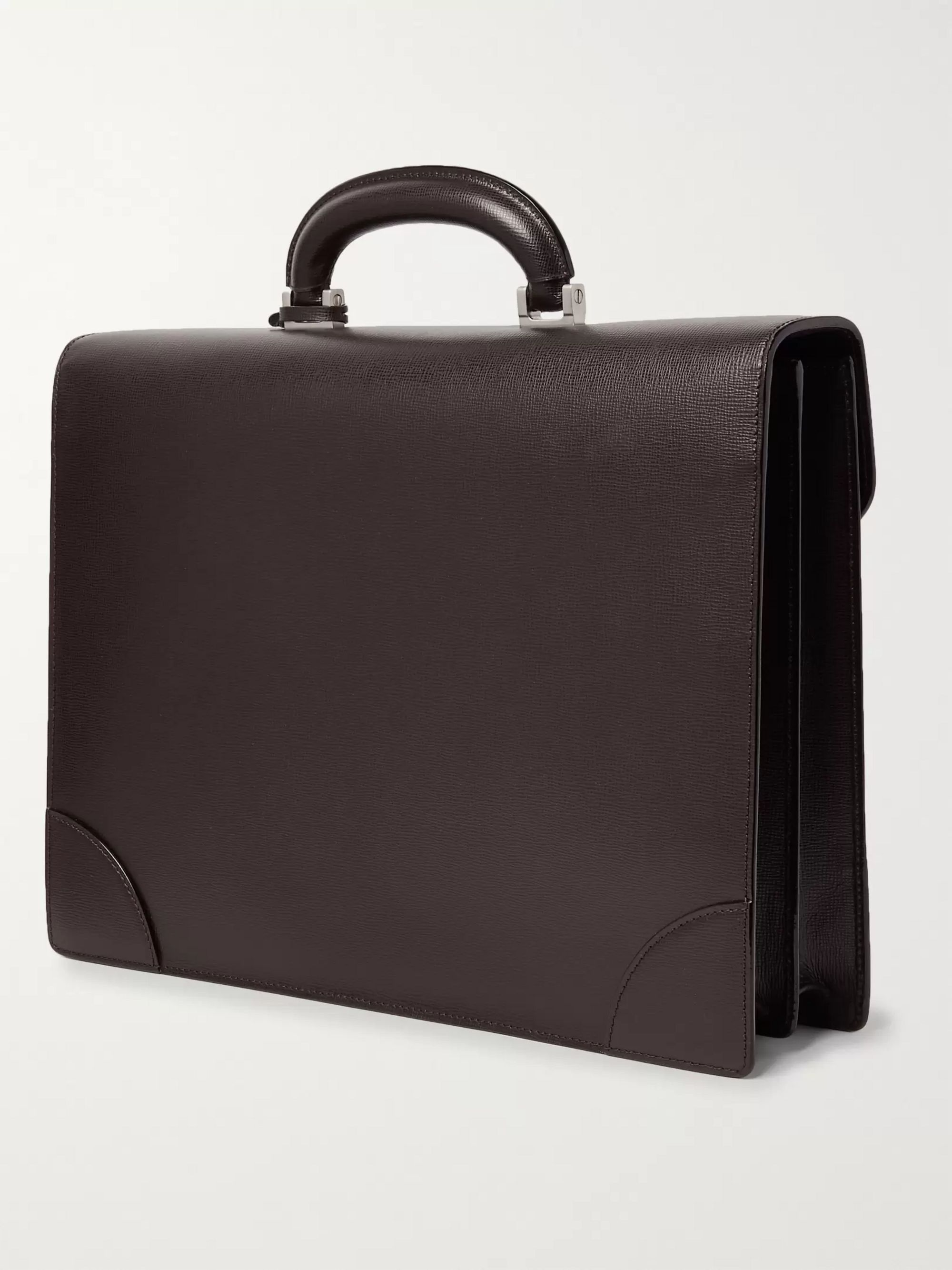 Valextra Cross-Grain Leather Briefcase