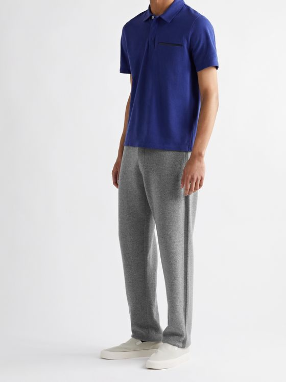 Berluti Two-Tone Wool and Cashmere-Blend Sweatpants