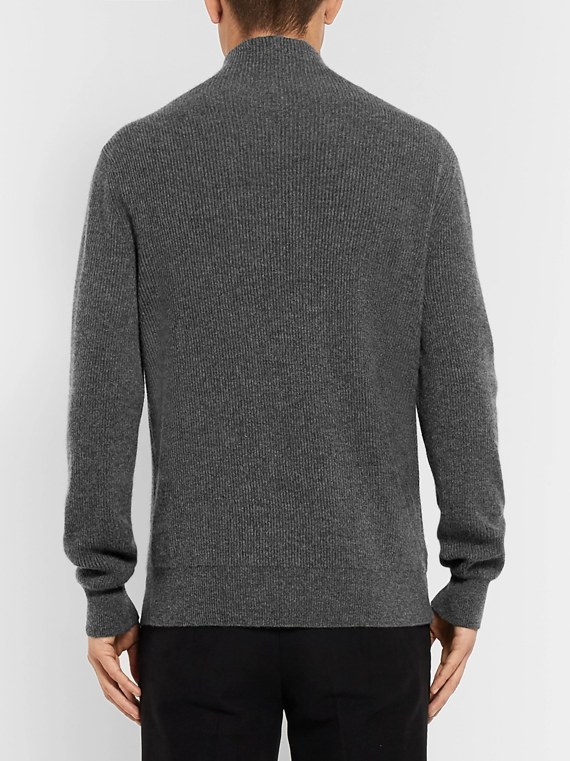 The Row Daniel Ribbed Cashmere Rollneck Sweater