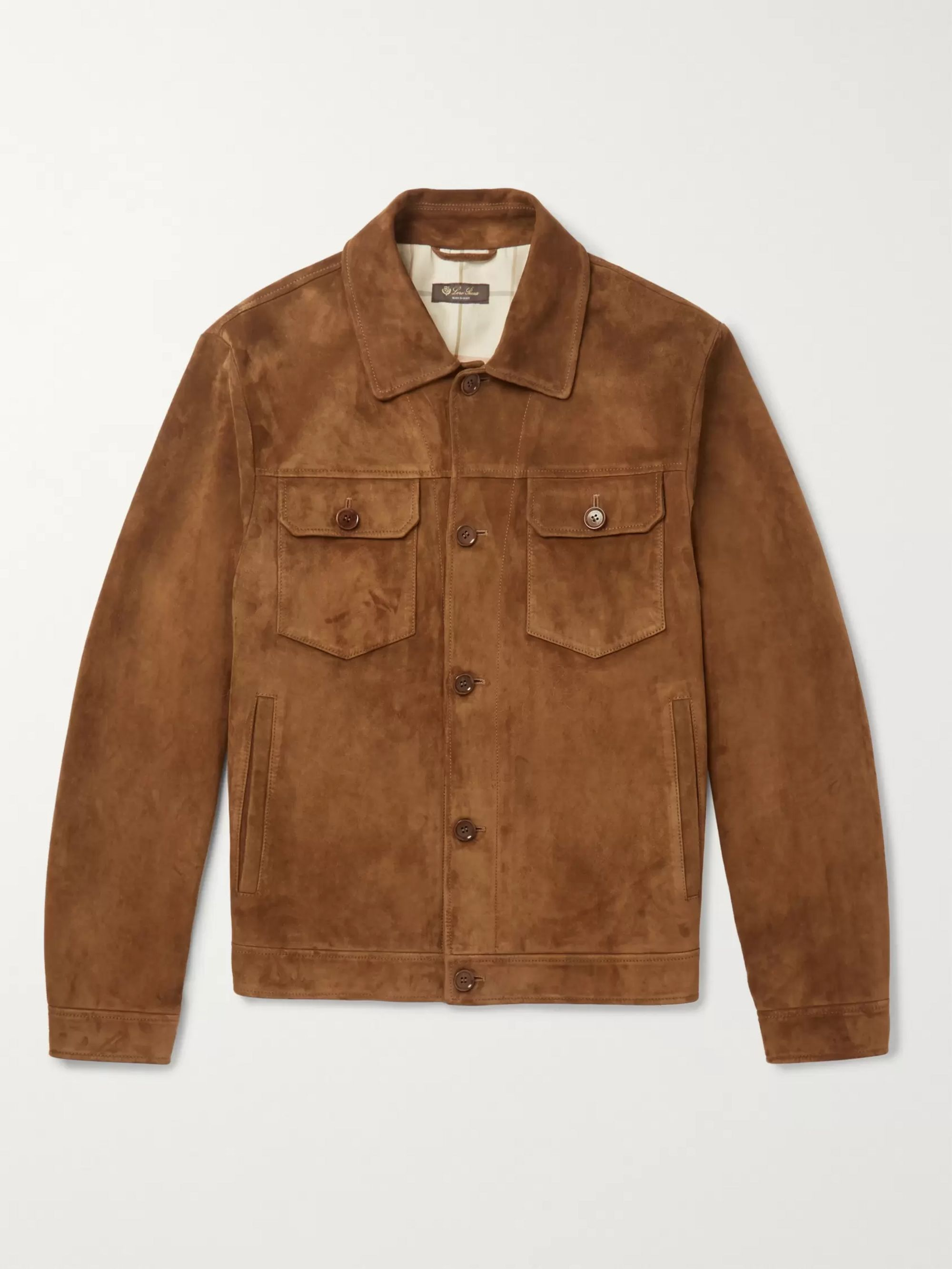 Suede Trucker Jacket by Loro Piana