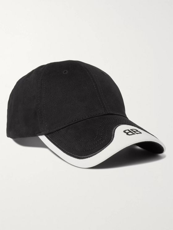 Balenciaga Logo-Embroidered Cotton-Twill Baseball Cap