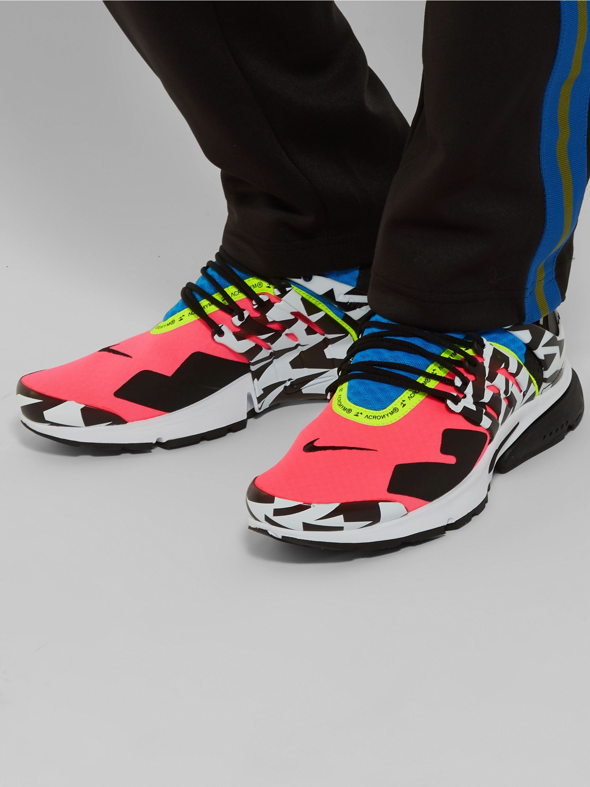 + Acronym Air Presto Mid Leather and Rubber Trimmed Mesh Sneakers