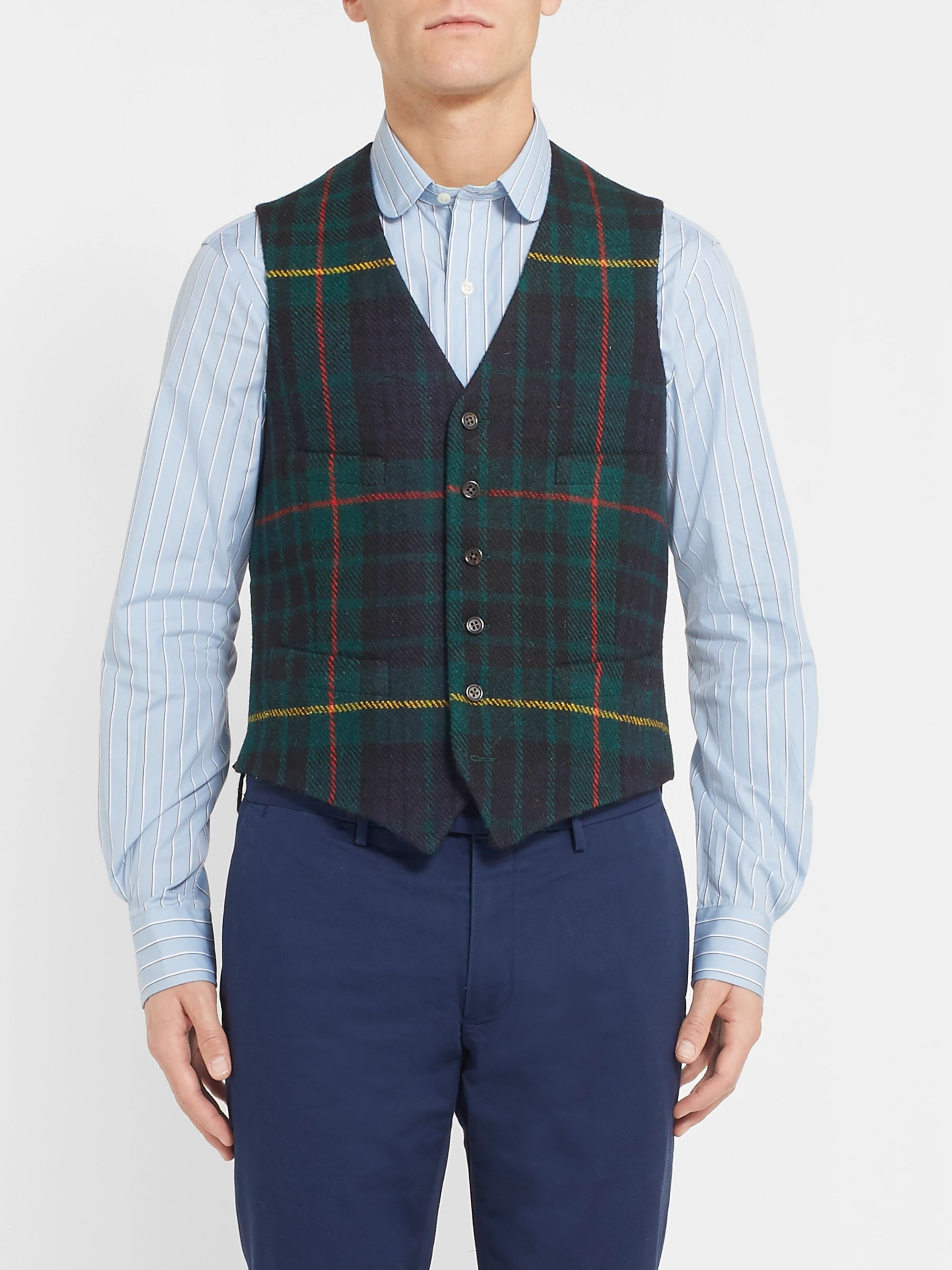Polo Ralph Lauren Slim-Fit Checked Wool Waistcoat