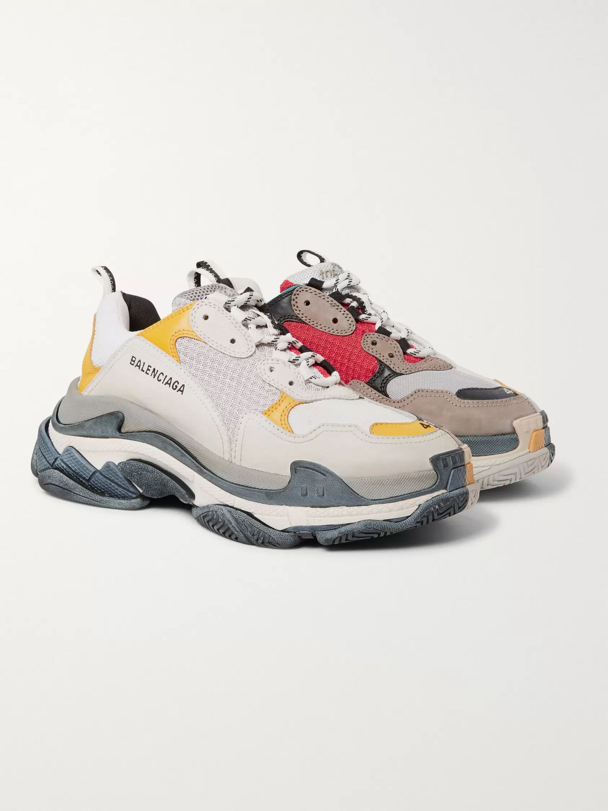 ef857d8f490 Triple S Mesh, Nubuck and Leather Sneakers