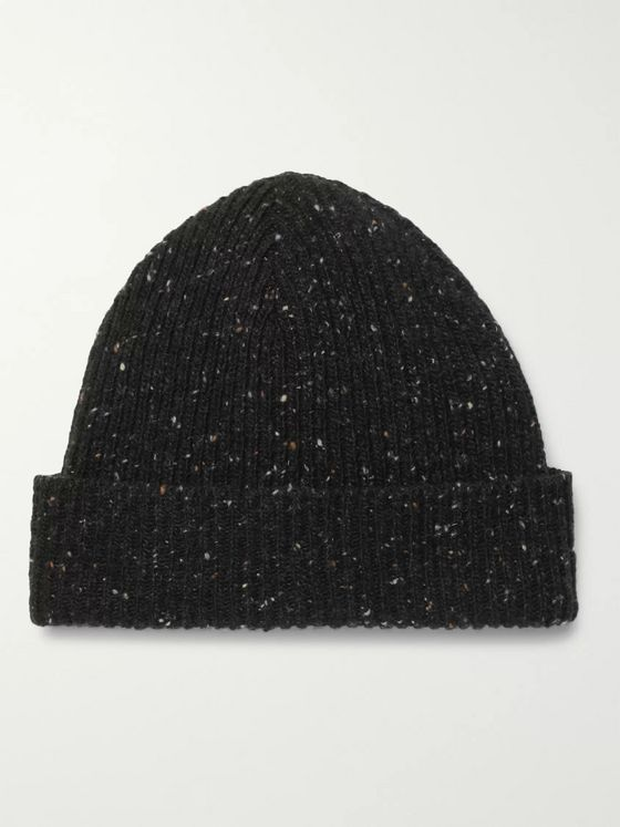 Mr P. Ribbed Donegal Wool Beanie