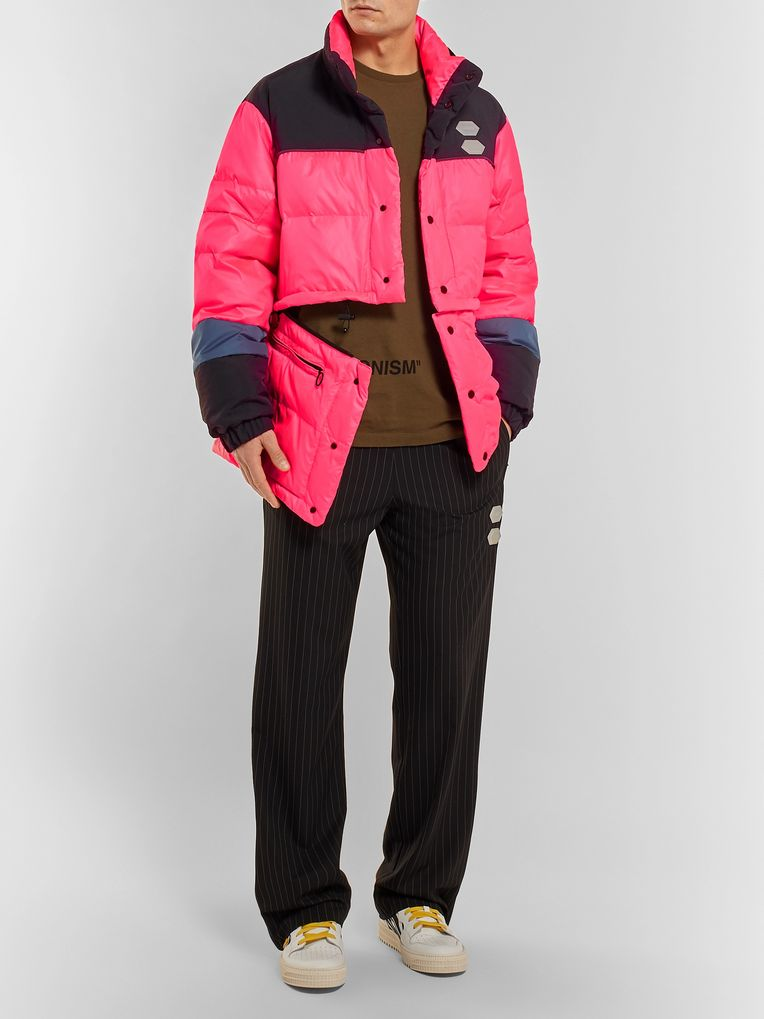 Off-White Colour-Block Quilted Shell Down Jacket