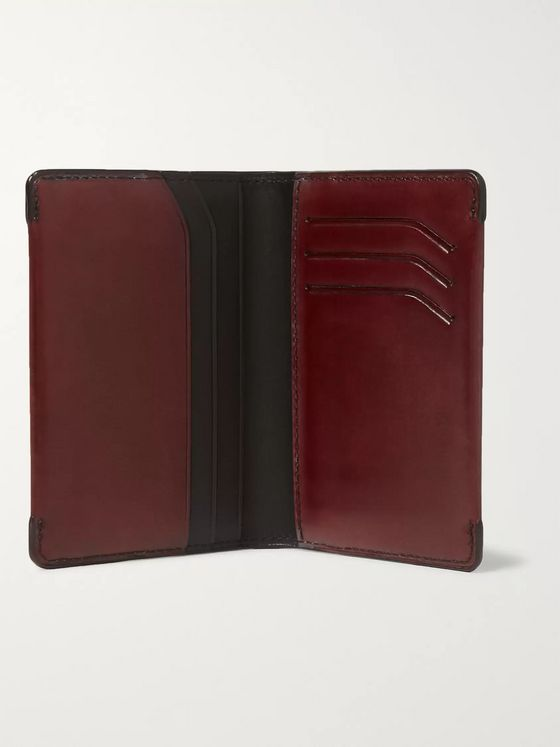 Berluti Leather Bifold Cardholder