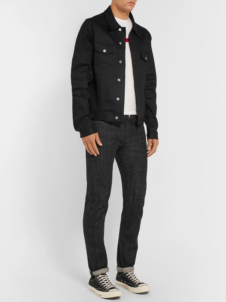 Jean Shop Lou Slim-Fit Stretch-Denim Trucker Jacket