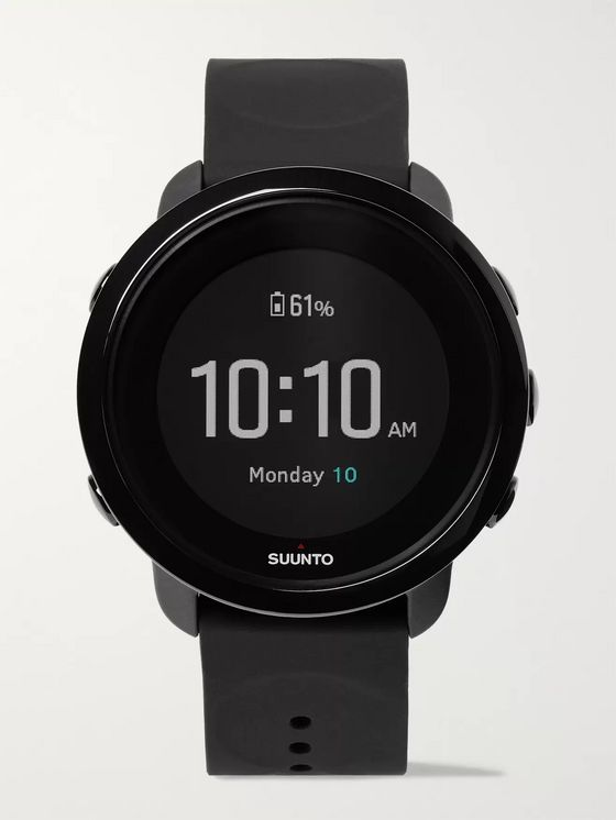 Suunto 3 Fitness Stainless Steel and Silicone Digital Watch