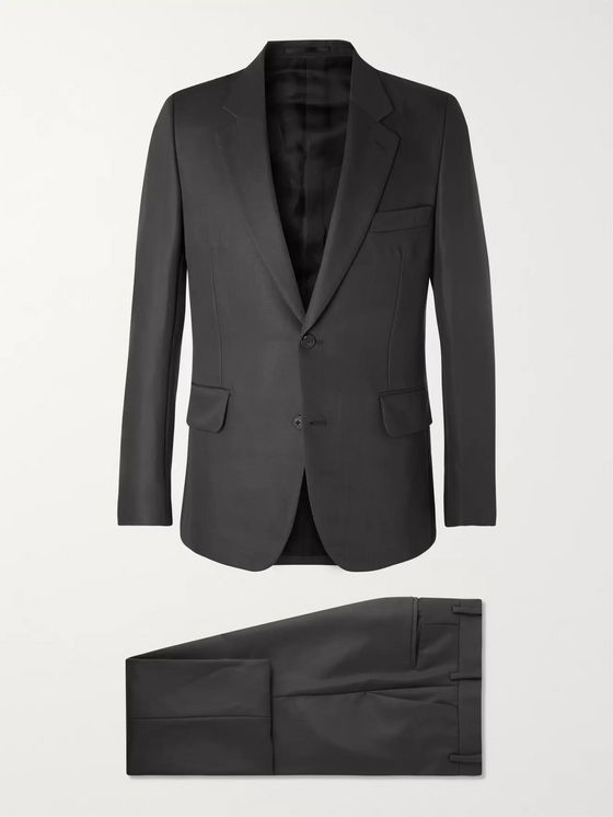 The Row Dark-Grey David Slim-Fit Virgin Wool and Mohair-Blend Gabardine Suit
