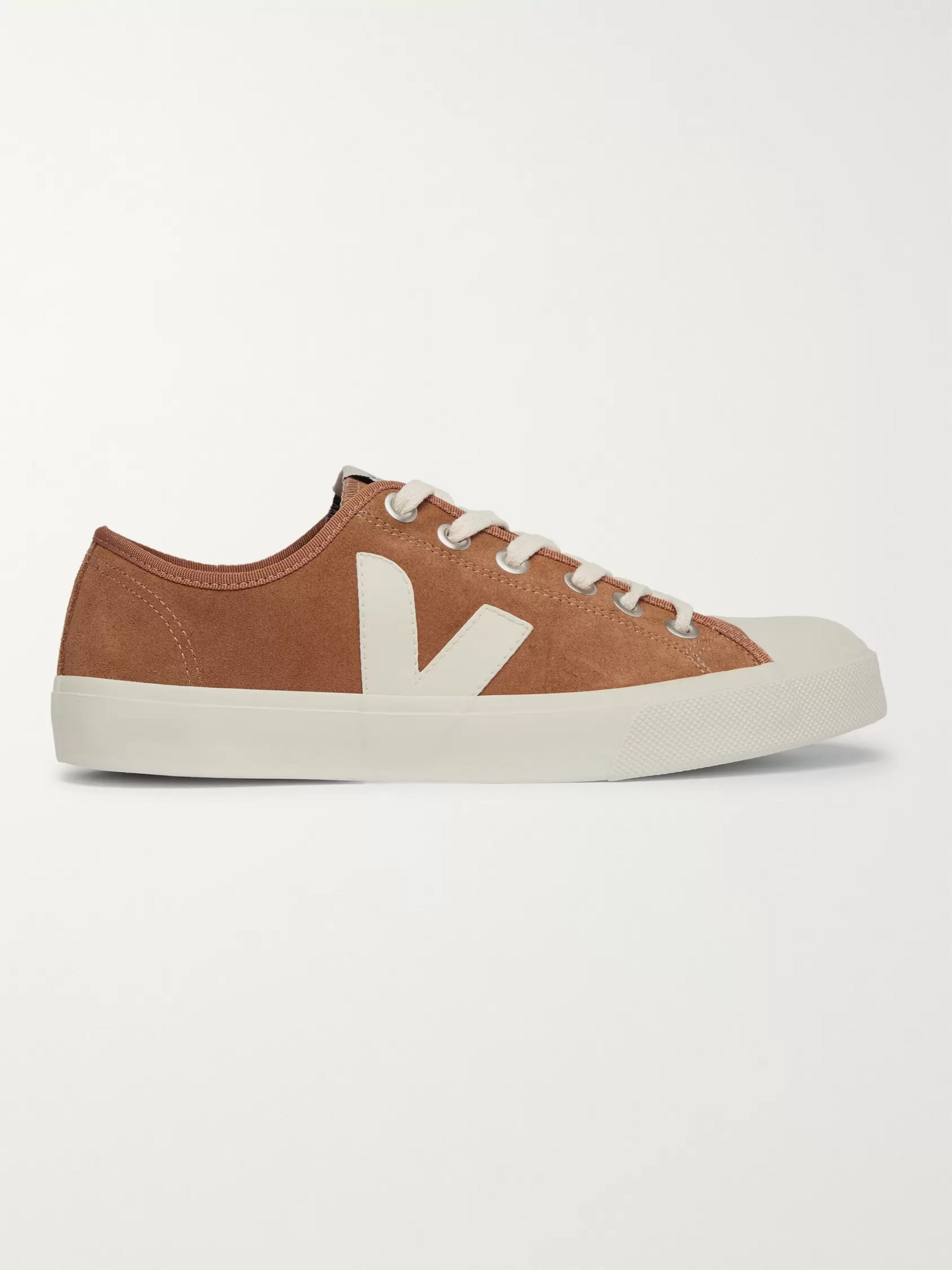 Veja Wata Rubber-Trimmed Suede Sneakers