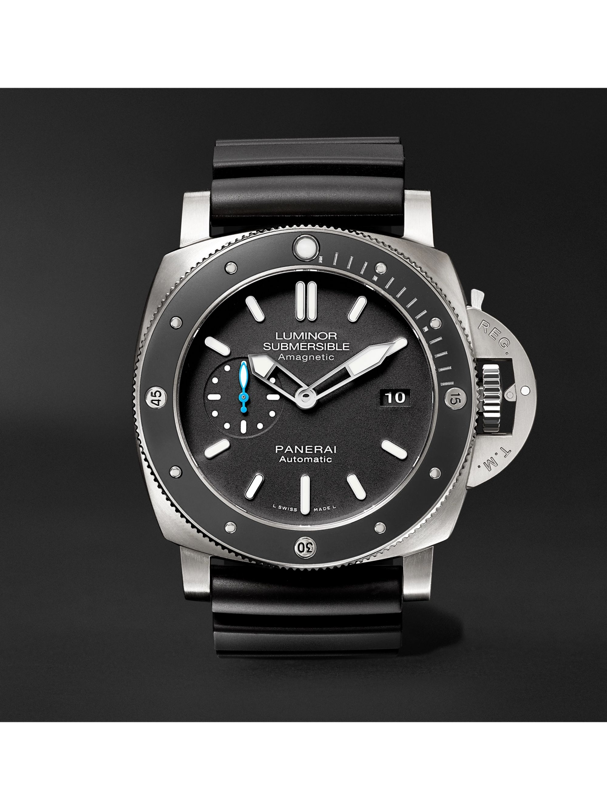 Panerai Luminor Submersible 1950 Amagnetic 3 Days Automatic 47mm Titanium and Rubber Watch, Ref. No. PAM01389