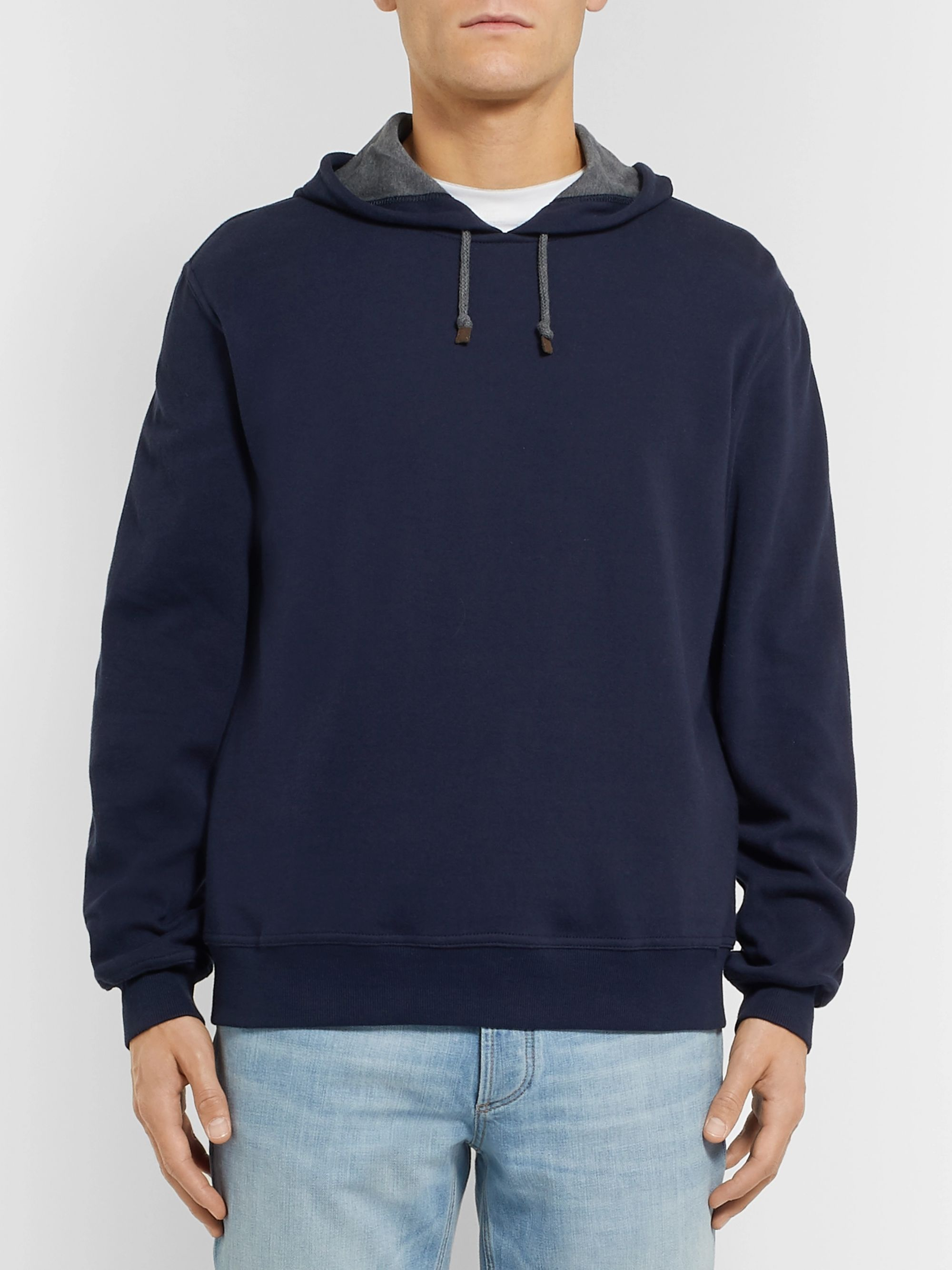Brunello Cucinelli Fleece-Back Cotton-Jersey Hoodie