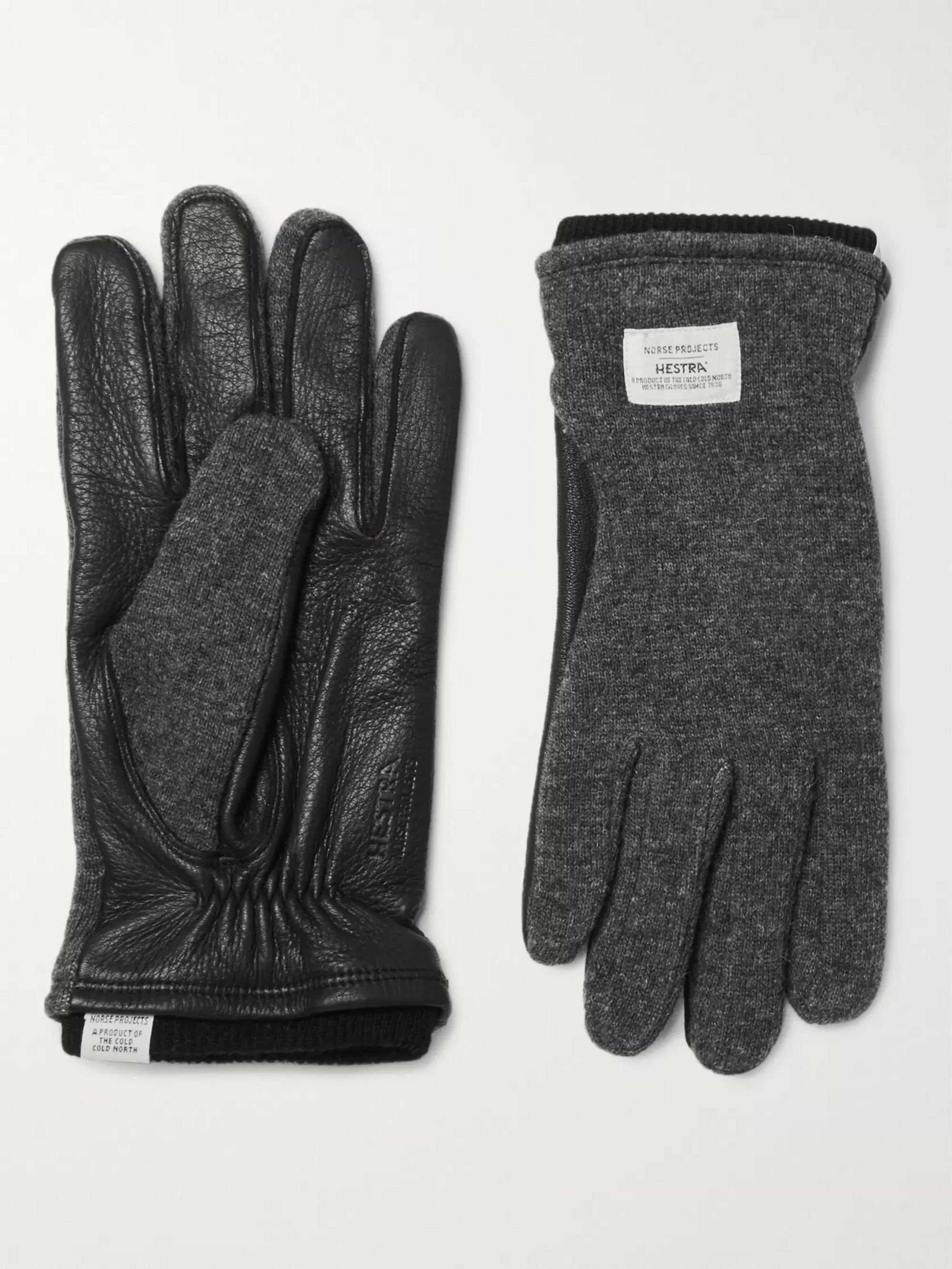 Norse Projects + Hestra Svante Leather and Knitted Gloves