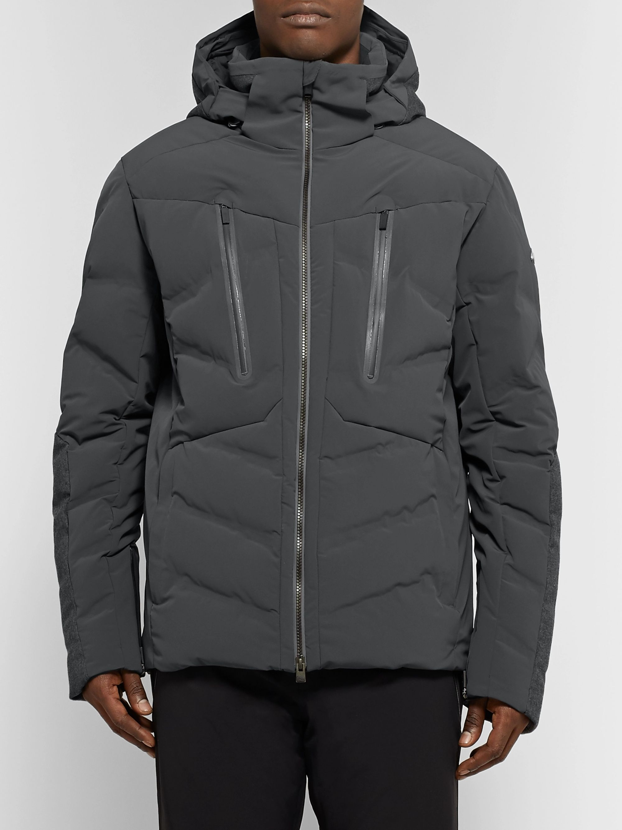 Kjus Linard Wool-Panelled Hooded Ski Jacket
