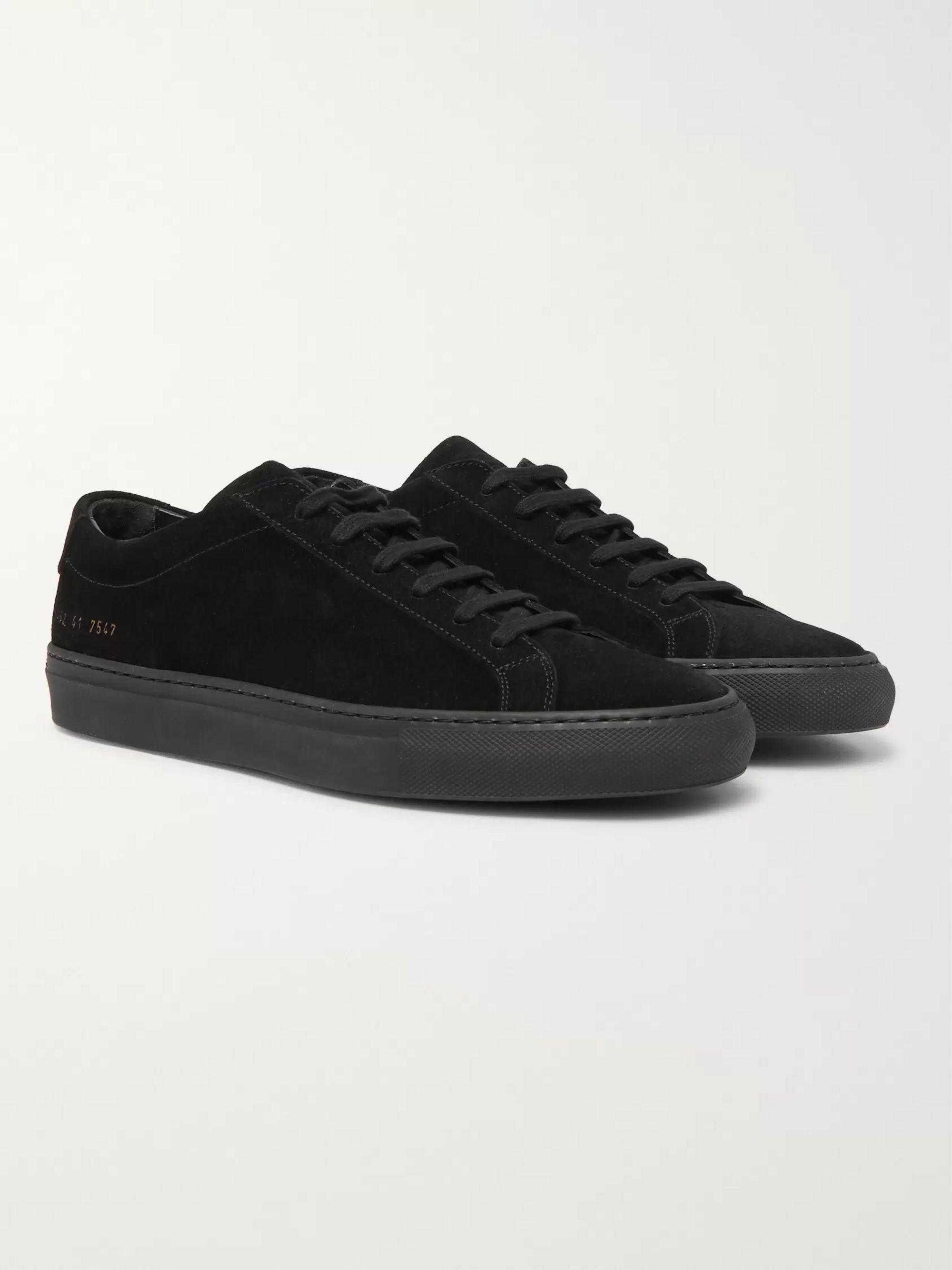 Black Original Achilles Suede Sneakers