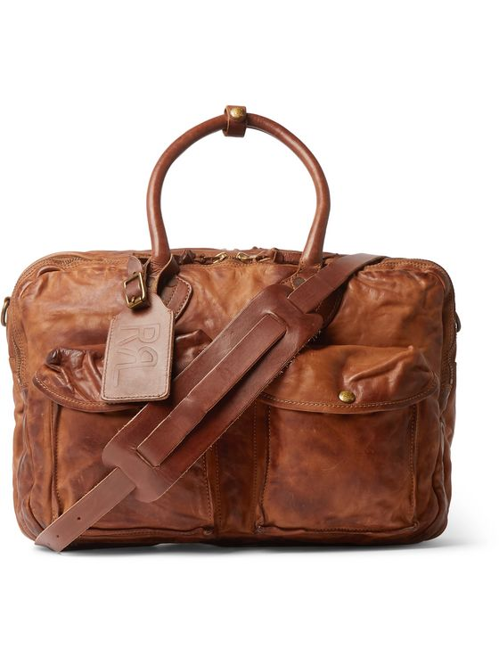 RRL Leather Holdall