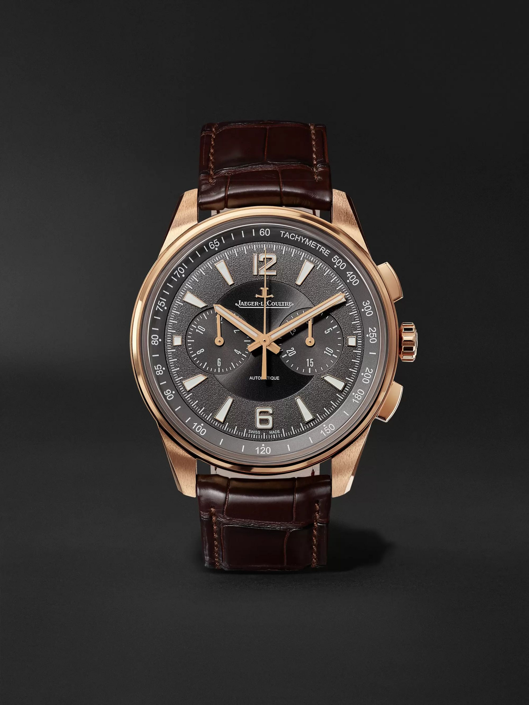 Jaeger-LeCoultre Polaris Chronograph 42mm Rose Gold and Alligator Watch