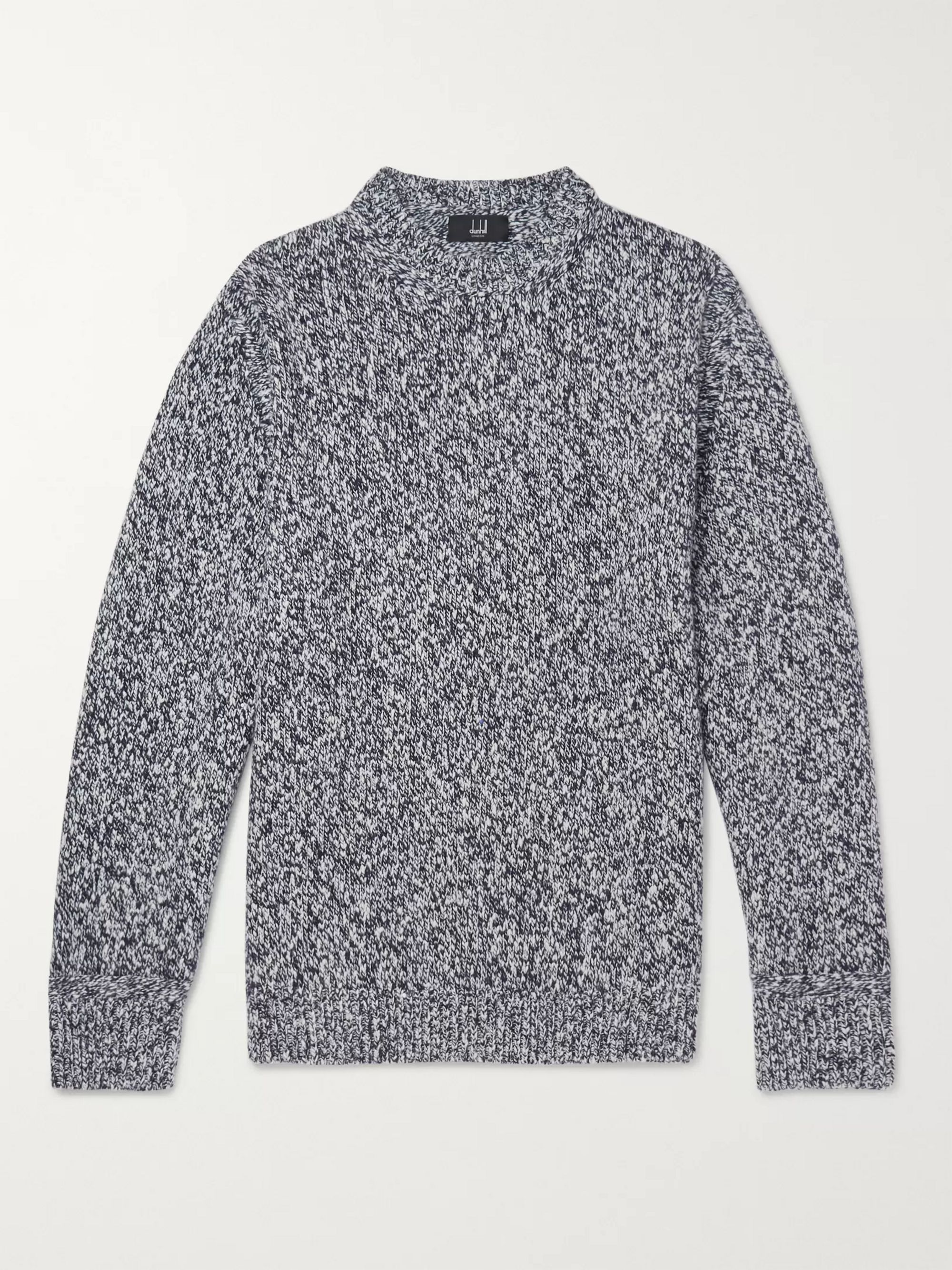 Dunhill Slub Wool and Cashmere-Blend Sweater