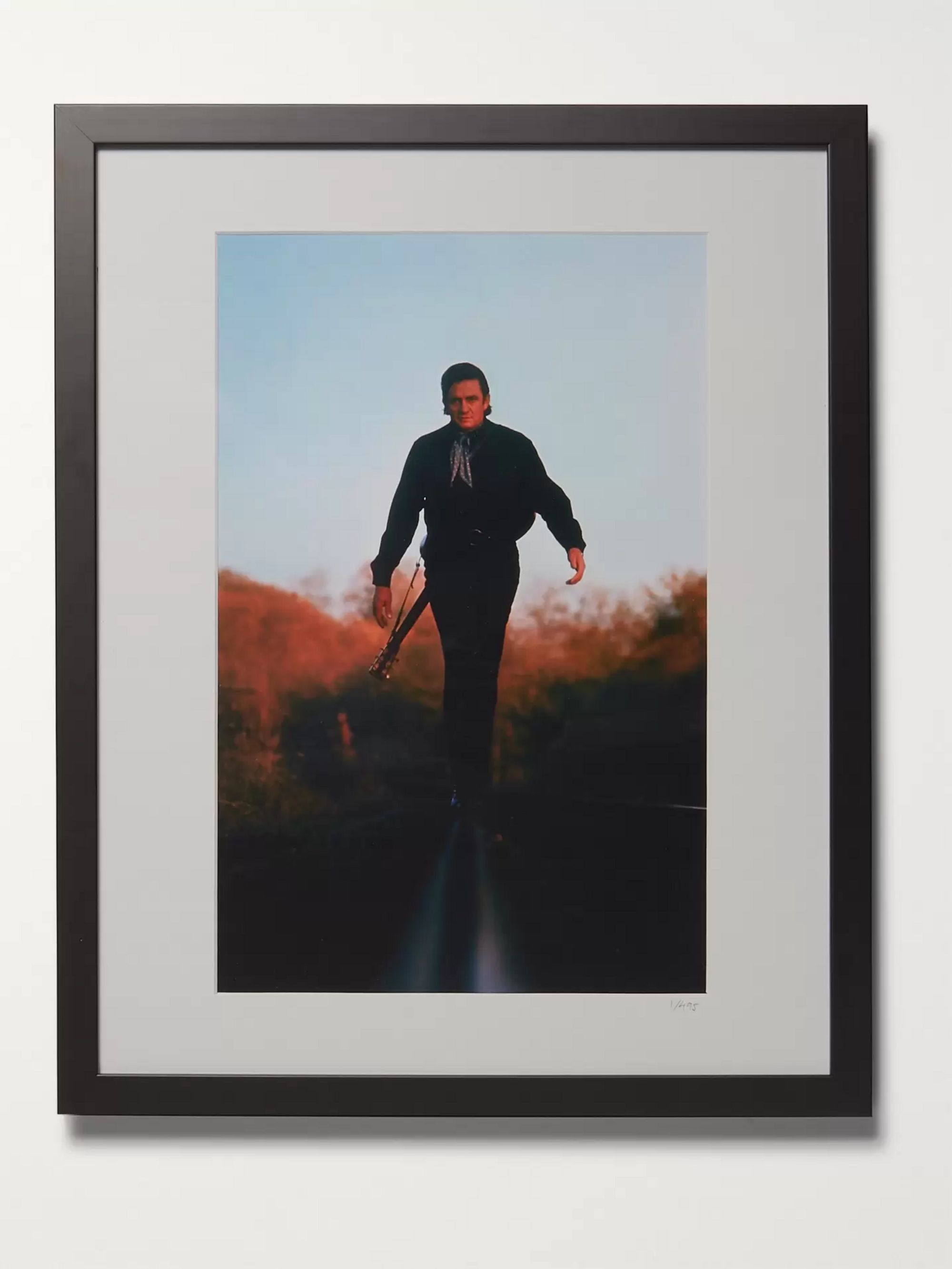 "Sonic Editions Framed 1969 Johnny Cash Print, 16"" x 20"""