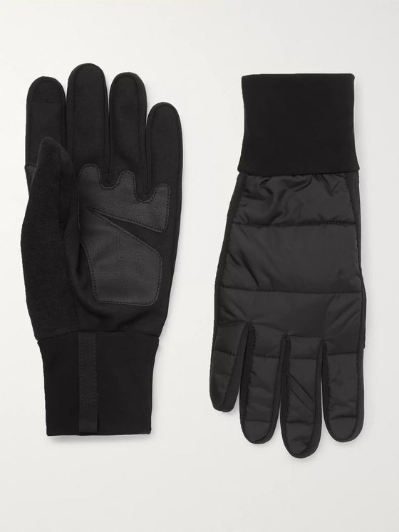 Cafe du Cycliste Panelled Shell and Faux Leather Gloves